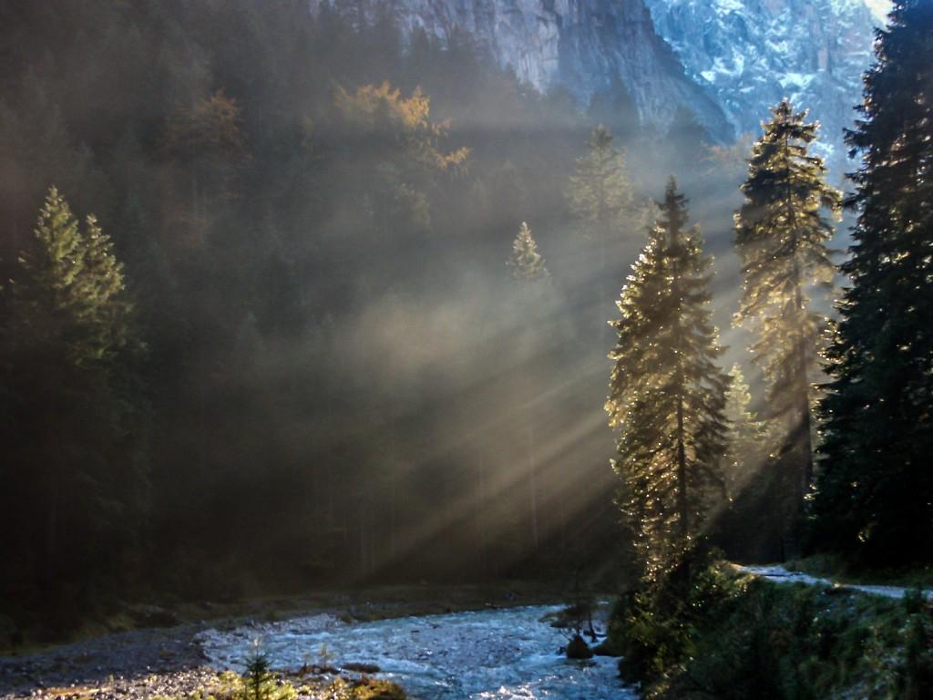 Die letzten Sonnenstrahlen im Reintal