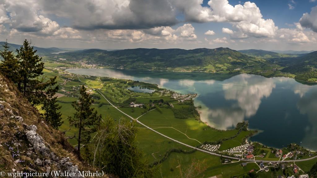 Mondsee-Panorama - Ausschnitt