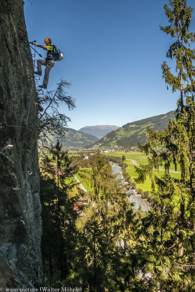 Im Huterlaner Klettersteig