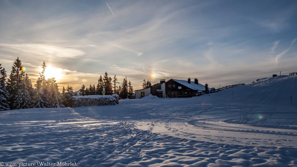 Wintersonne auf der Hörndlhütte