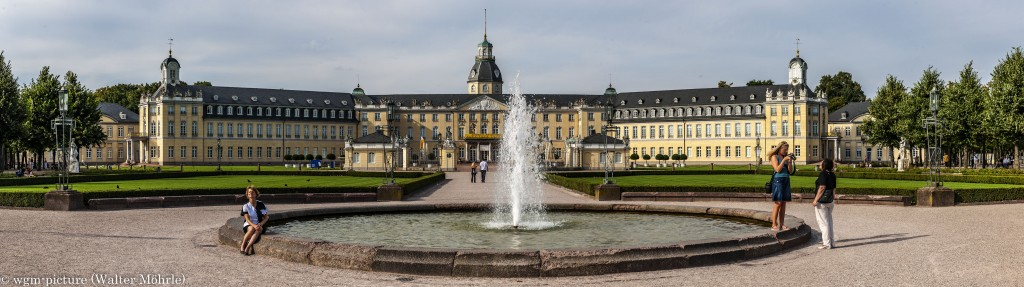 Panorama Schloss Karlsruhe 2