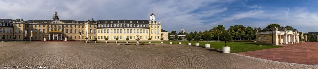 Panorama Schloss Karlsruhe 3