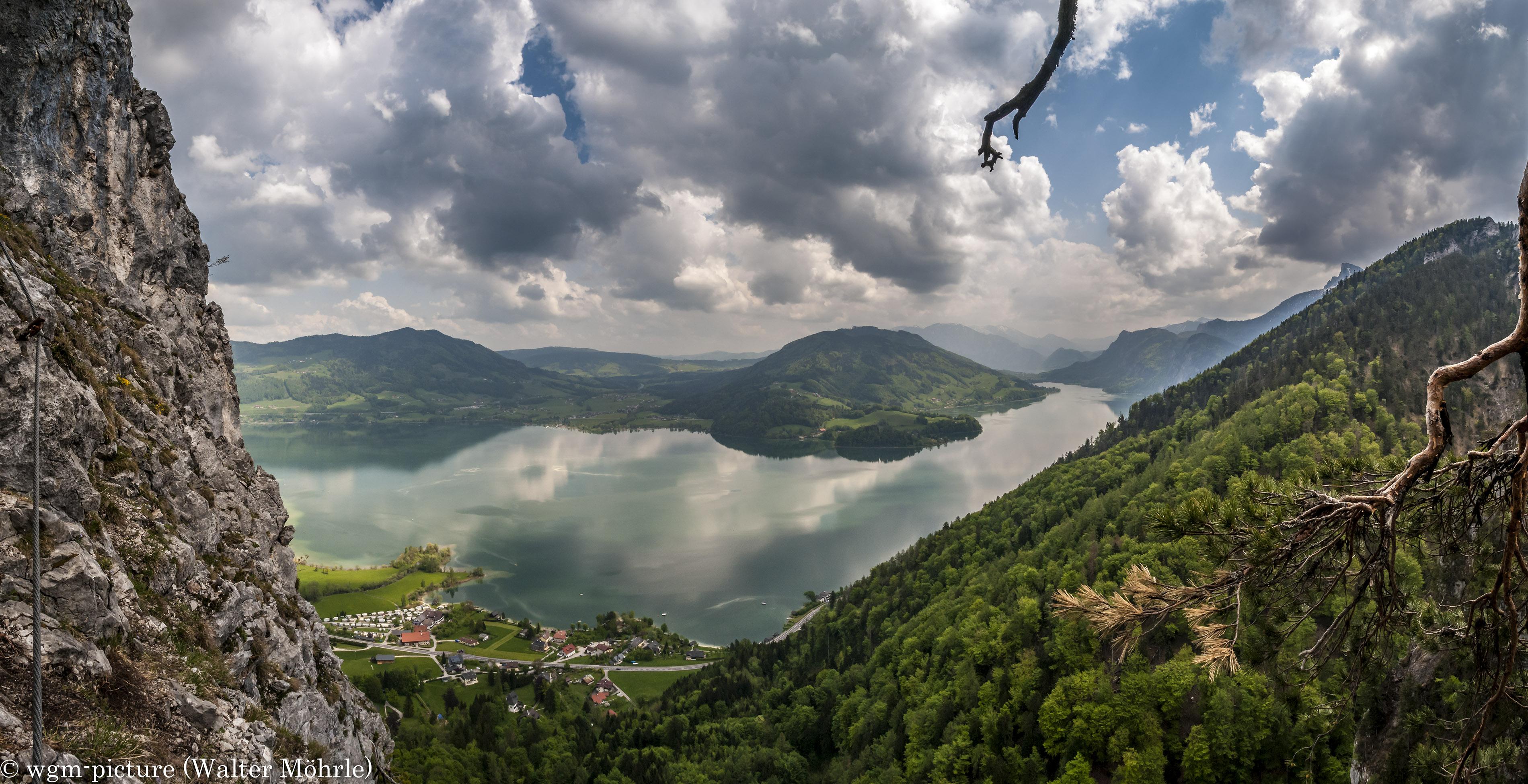 Klettersteig Mondsee : Drachenwand klettersteig wgm picture