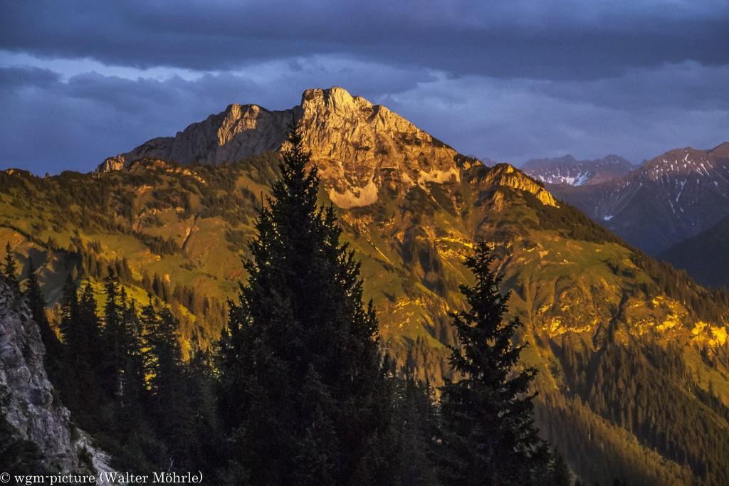Sonnenuntergang im Tannheimer Tal