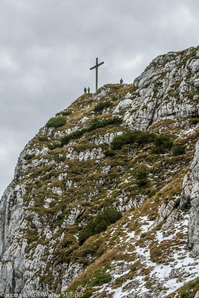 Maximiliansweg Benediktenwand - Ausstieg zum Gipfel