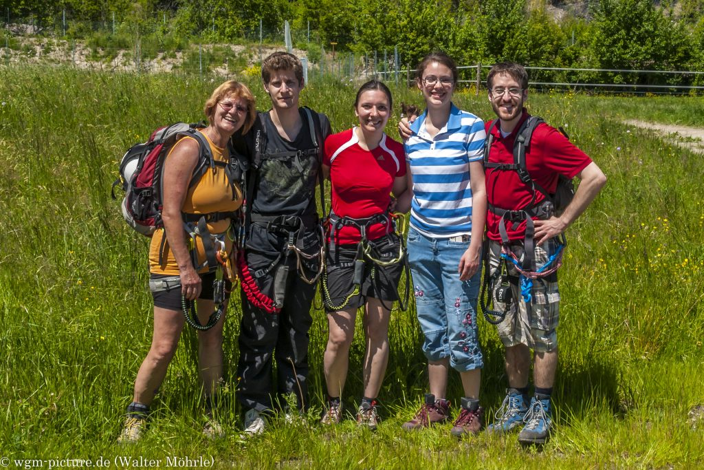 Geierwand Klettersteig - unser Team