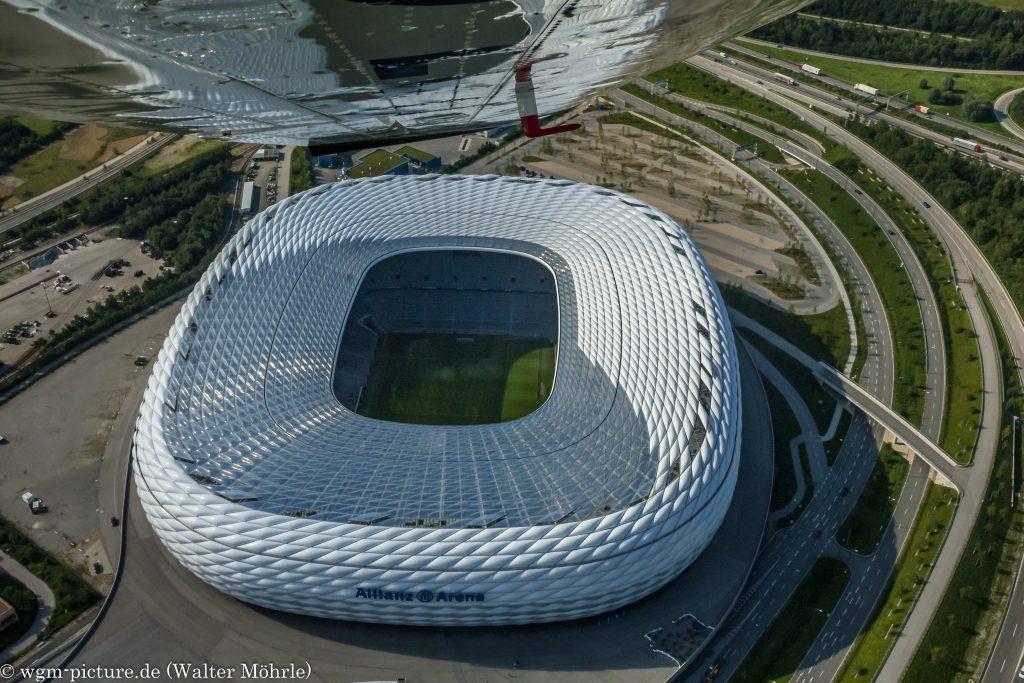 Allianz Arena - Luftaufnahme