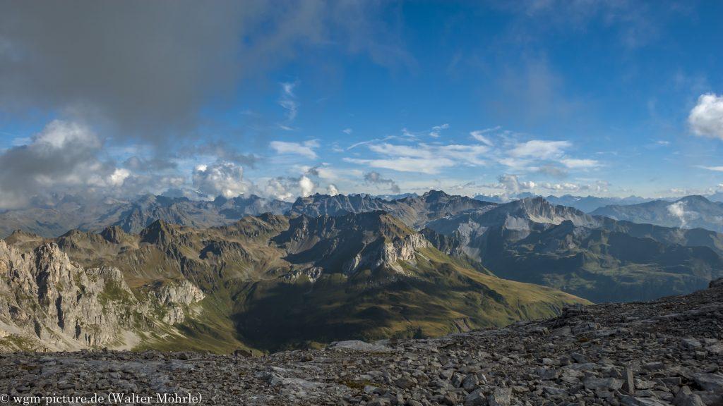 Alpenpanorama auf der Sulzfluh