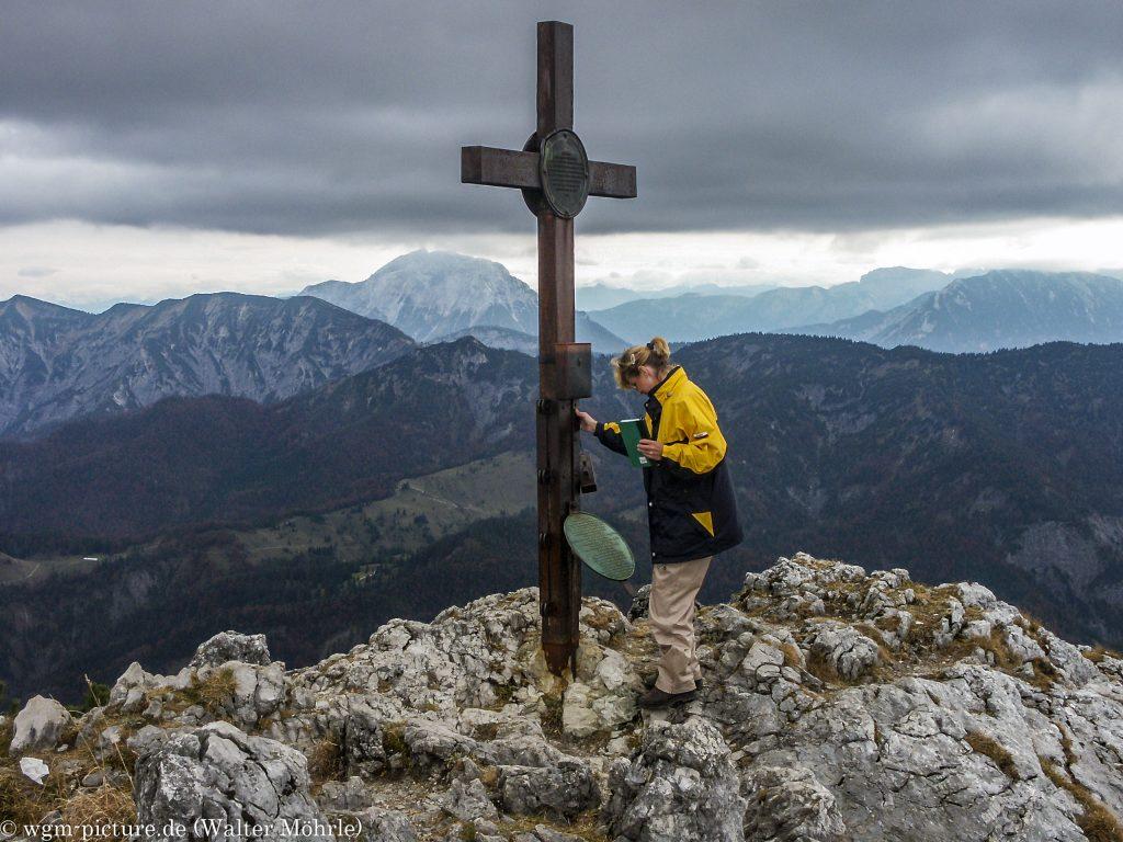 Am Gipfel vom Buchstein