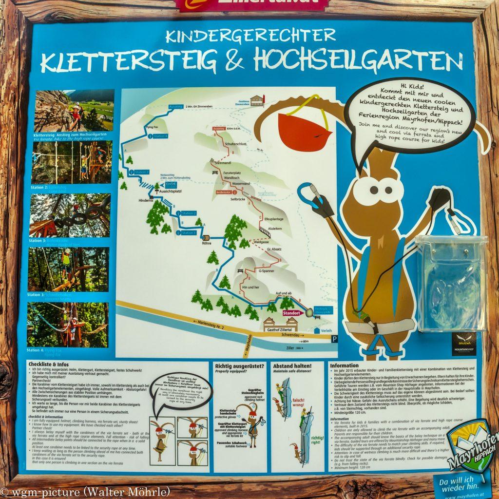 "Lea´s erster Klettersteig Topo vom ""Kindergerechter Klettersteig"" Mayrhofen/Zillertal"
