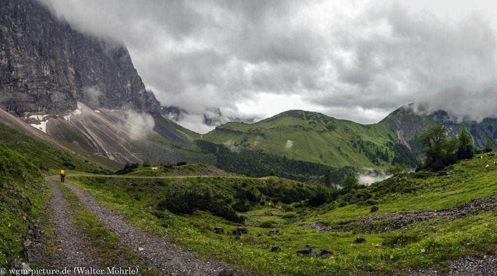 Blick zur Falkenhütte