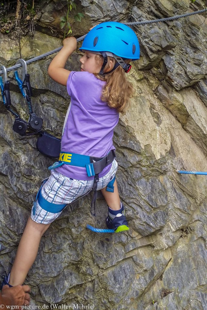 Lea´s erster Klettersteig