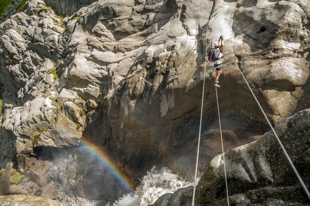 Seiltanz am Regenbogen Erlebnis-Klettersteig im Pitztal
